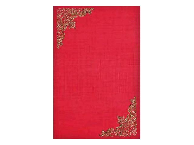Папка адресная, А4, бумвинил, красная, с тиснеными углами, Имидж