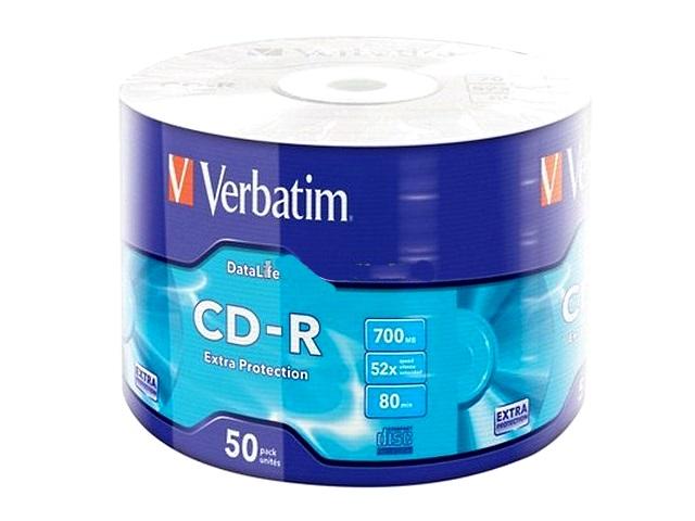 Диск CD-R 700Mb 52x Extra, Verbatim