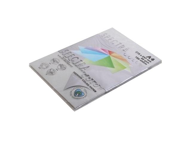 Бумага А4, 80 г/м, 100 листов, платиновая, Spectra Color