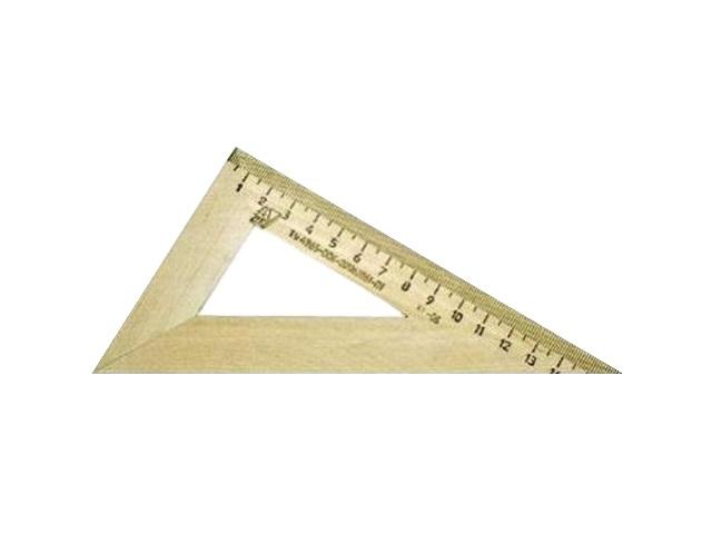 Треугольник 16см., деревянный, 30*60*90, Можга