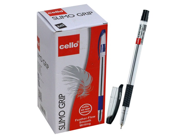Ручка масл Cello Slimo Grip черн 0.7мм/50