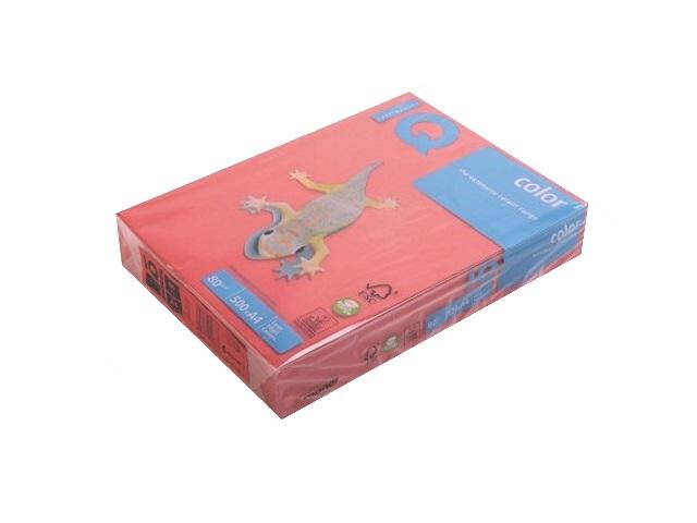 Бумага А4 80 г/м2 500 листов кораллово-красная, IQ CO44 155946