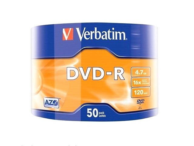Диск, DVD-R, 4.7Gb, 16x, Bulk, Verbatim