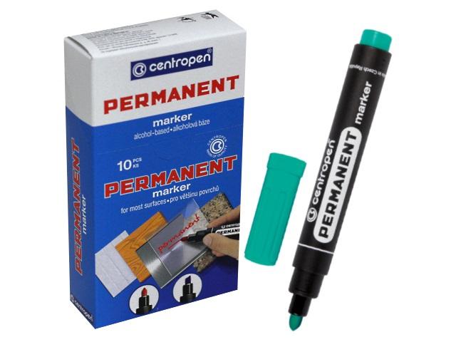 Маркер перманентный зеленый круглый 2.5 мм, Centropen 8566