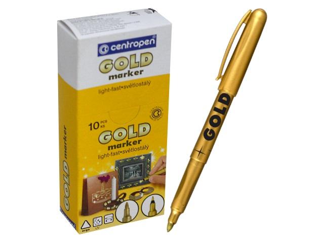 Маркер перманентный золотой круглый 1.5-3 мм, Centropen 2690