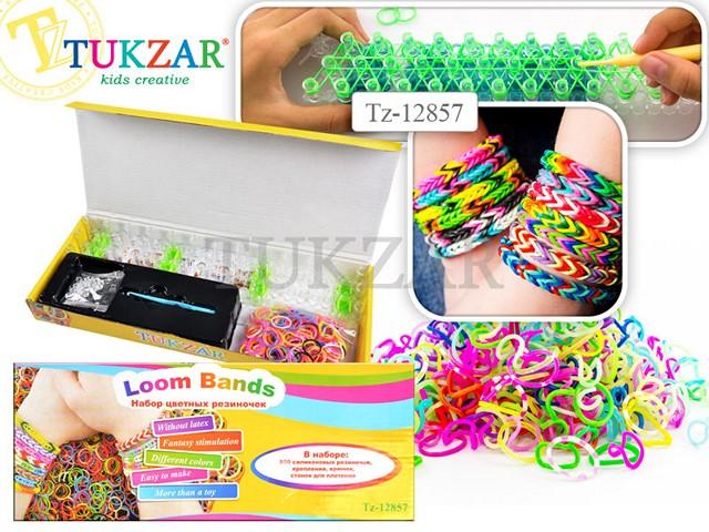 Набор для творчества, Резиночки для плетения, 500шт., + станок, в коробке, Tukzar