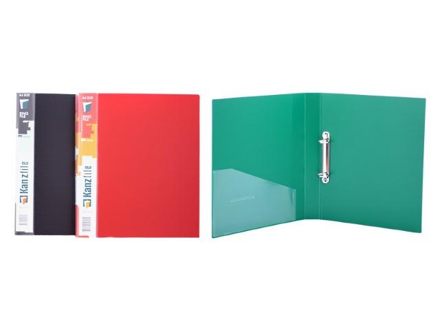 Папка на 2 кольца, А4, 35 мм, цвета в ассортименте, Kanzfile