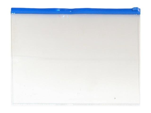 Папка на бегунке, А5, прозрачная, цвета в ассортименте, Kanzfile